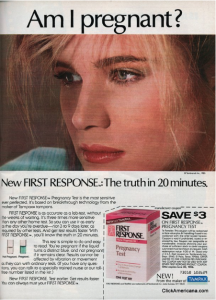 a magazine ad for the test
